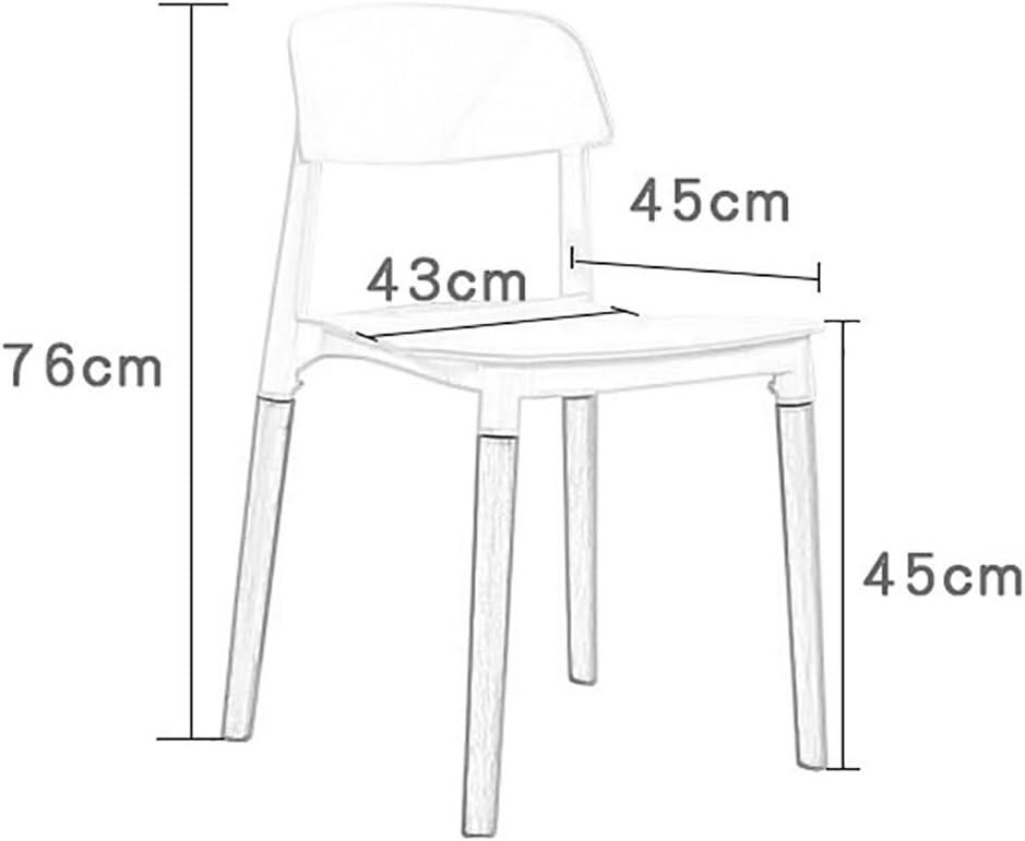 JF Chaise/Chaise rétro/Chaise de Salle à Manger Chaise Longue/Bois Massif et PP matériel 43 cm * 45 cm * 76 cm Multi Couleurs Options (Couleur : E) F
