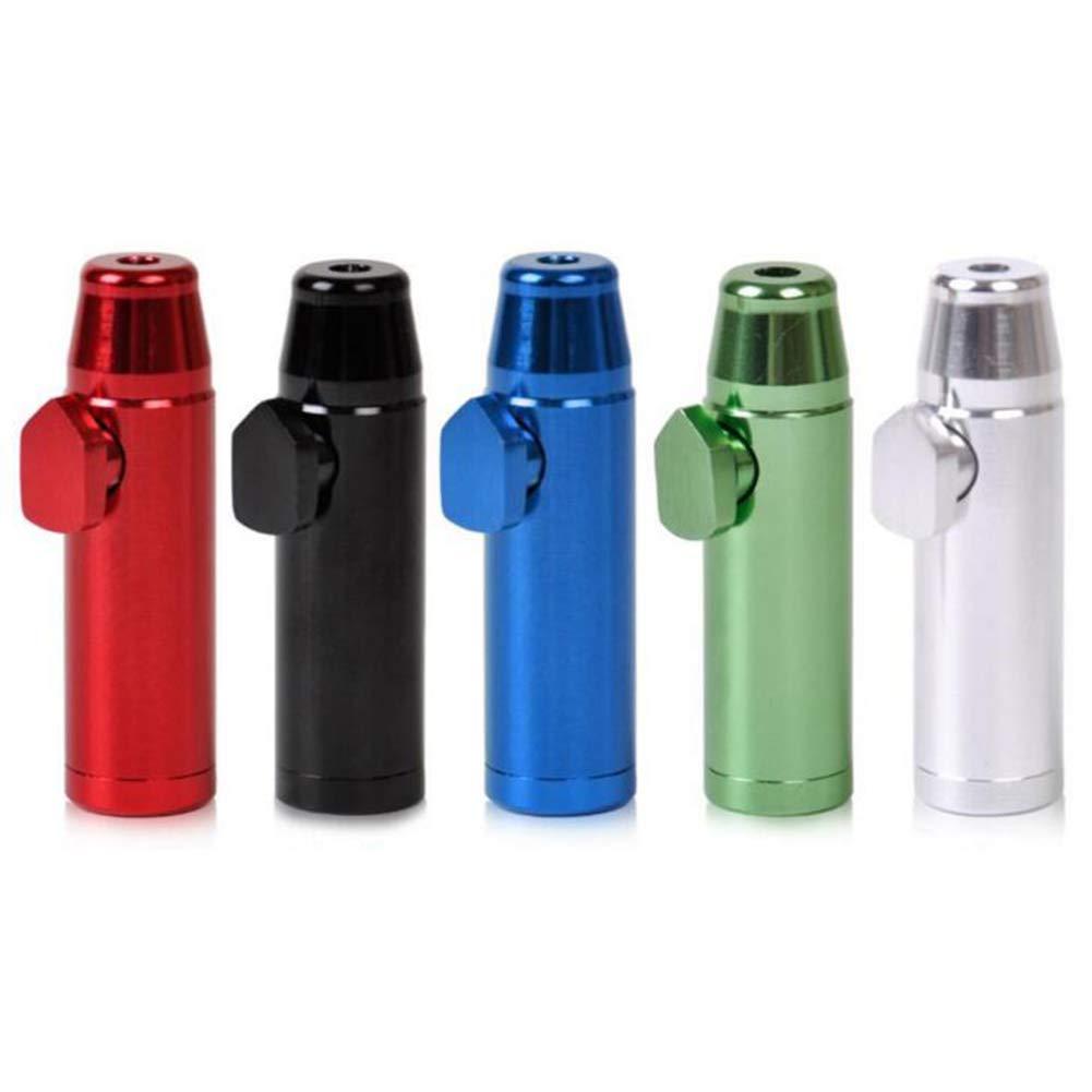 Fitlyiee 5 Pcs Aluminum Metal Snuff Bullet Rocket Dispenser Snorter Sniffer Snuff Nasal (Random Color)