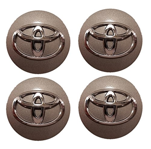 SET- Toyota Center Cap 42603-AC040 42603-AC070 - Dark Silver Chrome Logo