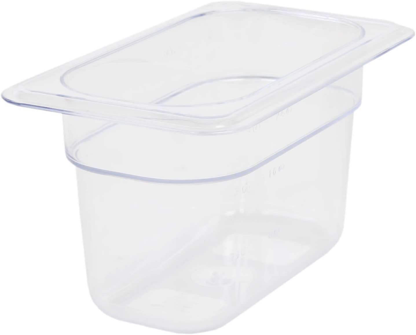 Excellante Ninth Size 4-Inch Deep Polycarbonate Food Pan