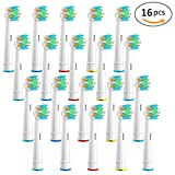 Genkent Oral-B Floss Action Replacement Toothbrush Heads 16 Pack