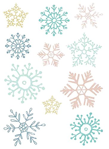 Nouvelles Images Nuove Immagini Adesiva Finestra, Motivo: Etoiles delle Nevi, polivinilcloruro, 8 x 8 x 0,02 cm 8x 8x 0 02cm LA CARTERIE 74001710