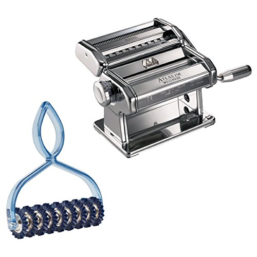 Atlas Stainless Steel Pasta Machine with Pasta Bike by Norpro