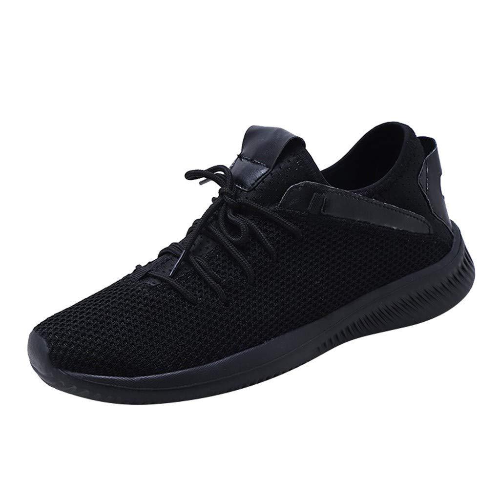refulgence Men Shoes Casual Sneaker Sports Shoes Non-Slip Student Comfortable Non-Slip Shoes (Black,US:12) by refulgence
