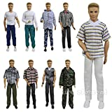 ken doll clothes and accessories - ZITA ELEMENT Lot 5 PCS Fashion Casual Wear Clothes/outfit for Barbie's Boy Friend Ken Doll