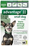ADVANTAGE II Dog Flea Control 0-10 lbs Green 6 Month