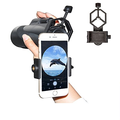 Universal Cellphone Telescope Adapter Mount, Work With Binocular Monocular Spotting Scope Microscope for iPhone Samsung HTC LG Xiaomi Huawei etc