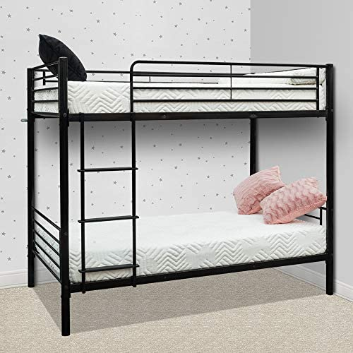 Bonnlo Metal Bunk Bed Twin Over Twin Bed Frame