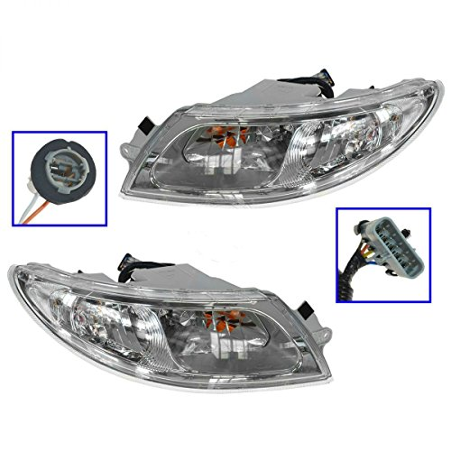 Headlight Headlamp Pair Set of 2 for International 4100 4200 4300 4400 8500 8600