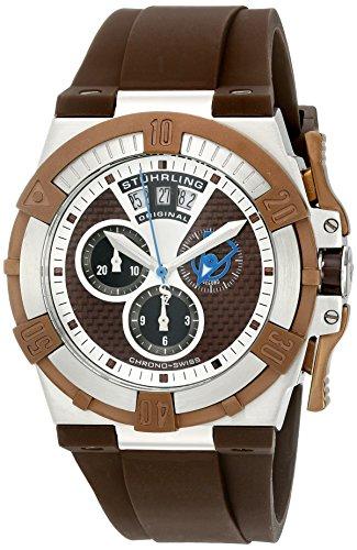 Stuhrling Original Men's 220.3376K59 Aviator Falcon Swiss Quartz Chronograph Date - Watch Complication Gents