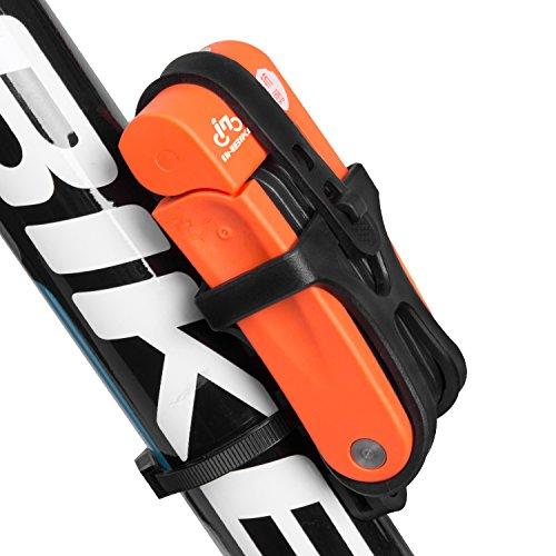 INBIKE 8 Joints Alloy Steel Folding Bike Lock 2.5