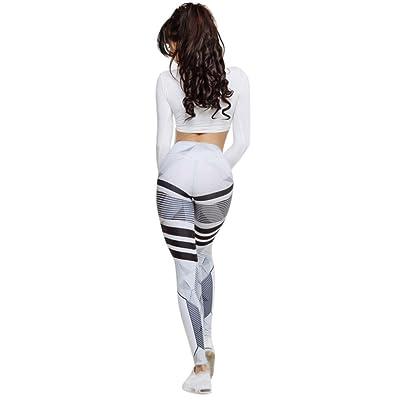 772dbc4f2eb1c ABASSKY Women's Fashion Printed High Waist Yoga Leggings Yoga Pants Non See  Through Yoga Pants Jockey