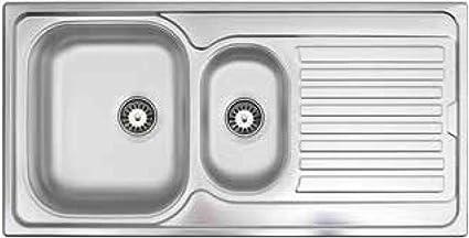 Lavello Cucina Incasso 1 Vasca e 1/2 con Gocciolatoio Dx ...