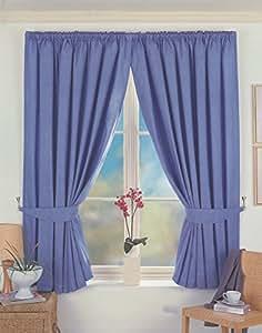 Dreams 'n' Drapes Norfolk - Cortina tupida (115 x 180 cm), color azul
