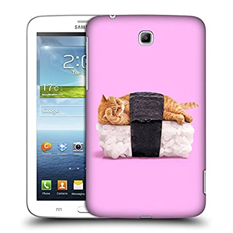 Official Paul Fuentes Sushi Cat Pastels 2 Hard Back Case for Samsung Galaxy Tab 3 7.0 (Sus Tab)