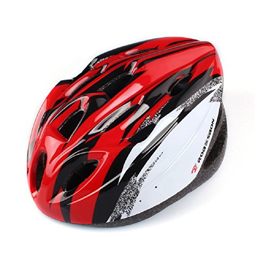 Doinshop Adult Unisex Outdoor Bicycle MTB Road Cycling Helmet fit 55-65cm With Visor (red)
