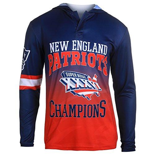 NFL New England Patriots Super Bowl XXXVI Champions Hoody Tee, XX-Large