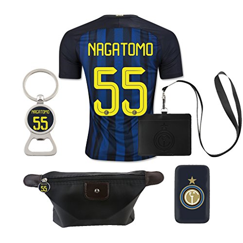 #55 Nagatomo (6 in 1 Combo) Inter Milan Home Match Adult Soccer Jersey 2016-17