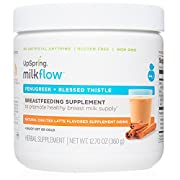 UpSpring Milkflow Fenugreek + Blessed Thistle Chai Tea Latte Powder Drink Mix 24 Servings