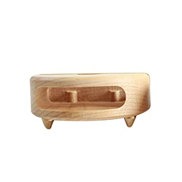 feiledi® Soporte de escritorio para teléfono móvil, soporte de madera, amplificador de sonido