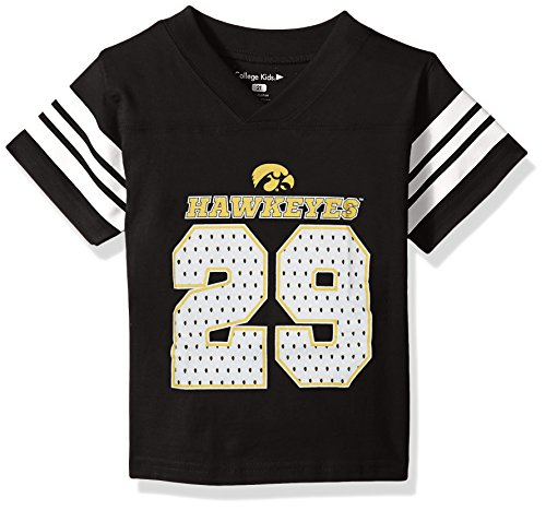 Black Iowa Hawkeyes Football Jersey - NCAA Iowa Hawkeyes Toddler Football Tee, 5/6 Toddler, Black