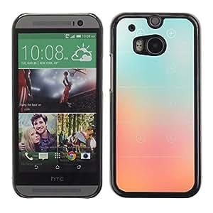 LASTONE PHONE CASE / Carcasa Funda Prima Delgada SLIM Casa Carcasa Funda Case Bandera Cover Armor Shell para HTC One M8 / Cool Glass Peach Pink Stripes Color Fog