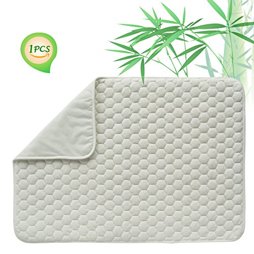 Quilted Pack N Play Crib Mattress Pad Liner Thicker Waterproof Changing Pad Liners by BlueSnail WHITE FOOTBALL (Quilted Design)