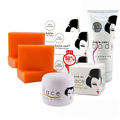 Whitening Philippines Soap (Kojie San Kojic Acid Lightening Soap, Cream and Lotion. COMPLETE KIT)