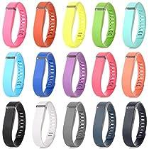 Austrake 15Pcs Large Replacement Bands for Fitbit Flex Wristband (15PCS Bands, Large)