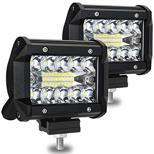 AMBOTHER-4-LED-Light-Bar-Pod-Lights-Triple-ROW-Driving-Light-Off-Road-Lights-Waterproof-Spot-Flood-Combo-Beam-LED-Cubes-Lights-For-Pickup-Trucks-Jeep-ATV-UTV-SUV-Boat1-Year-Warranty-60W-2-Pack