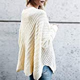 IEason Women top Women Casual Solid Long Sleeve Pullover Loose Sweater Jumper Tops Knitwear