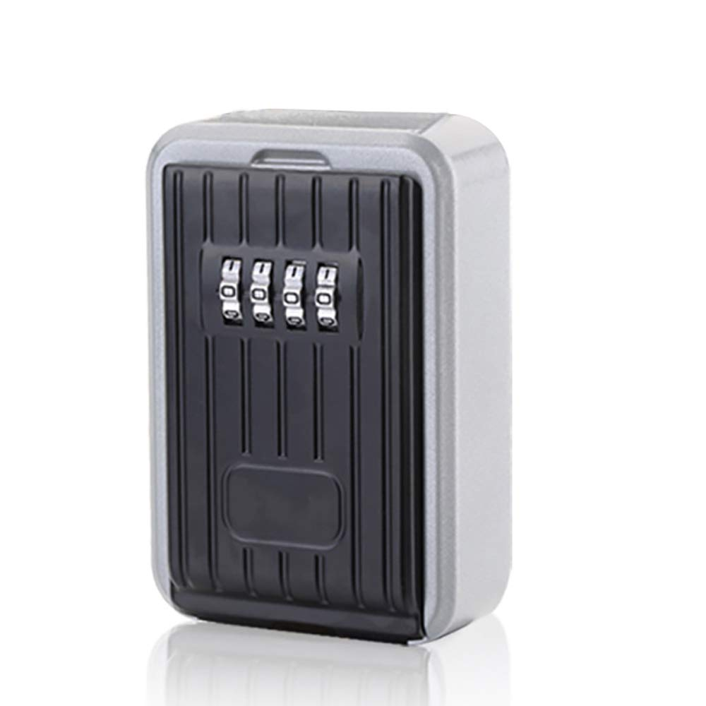 Key Lock Box, ONEVER Combination Waterproof Portable Lock Box with Code for House Key Storage Safe Security Indoor and Outdoor Wall Mounted Large Capacity Basic Sets