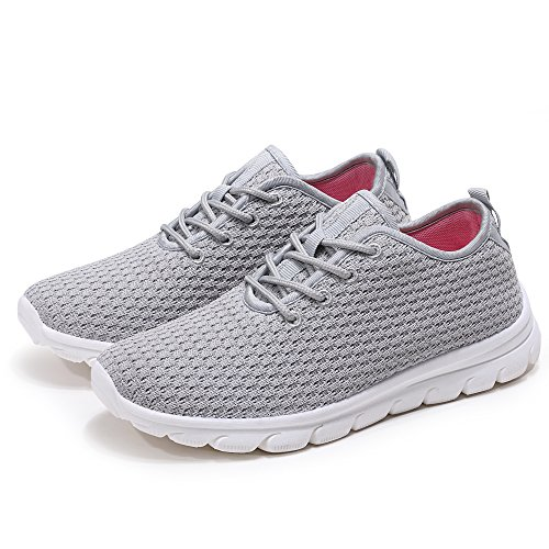 Fashion Grey J Snerkers lmh Women's Athletic Outdoor Walking Shoes ECw8gqU