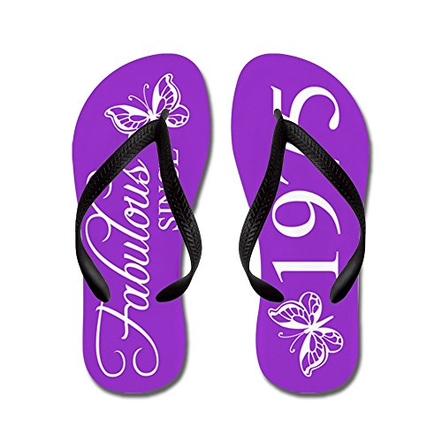 CafePress Fabulous Since 1975 - Flip Flops, Funny Thong Sandals, Beach Sandals Black