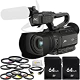 JVC GY-HM200HW House of Worship Streaming Camcorder Bundle Includes 2 64GB SD Memory Cards + 3PC Filter Kit + 4PC Macro Filter Set + 6PC Graduated Filter Kit + HDMI Cable & More!