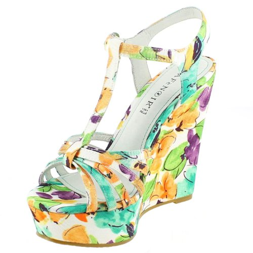 Cafè Noir Women Wedge-heeled shoes Multigreen Ne8y22LMEX