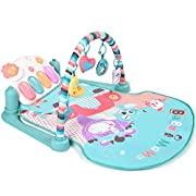 Large Baby Play Mat, BATTOP Kick and Play Piano Gym - 5 Toys & Musical Activity Baby Gym for 0-36 Month Boys and Girls (Not Include Batteries)