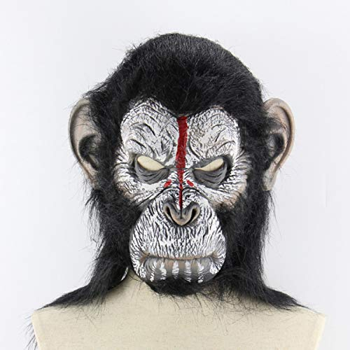 Smartlove1P Planet of The Apes Halloween Cosplay Gorilla Masquerade Mask Monkey King Costumes Caps Realistic Monkey -