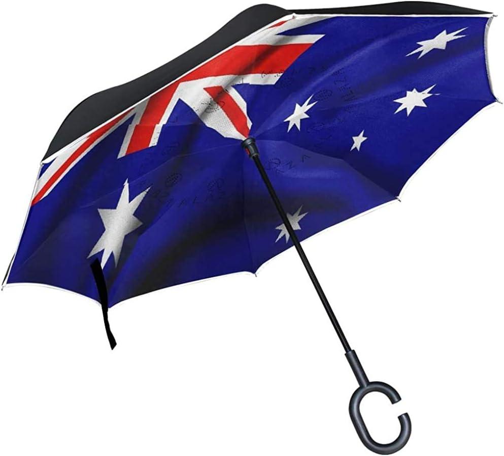 ETGeed Paraguas invertido Bandera de Australia Paraguas