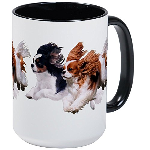 CafePress Cavaliers Color Large Mug Coffee Mug, Large 15 oz. White Coffee Cup ()