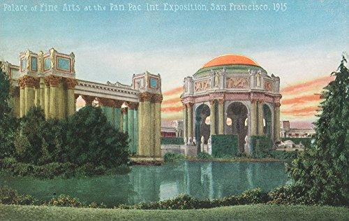 San Francisco, CA - Palace of Fine Arts View, Panama-Pacific Expo (9x12 Fine Art Print, Home Wall Decor Artwork Poster) (Ca Palace)