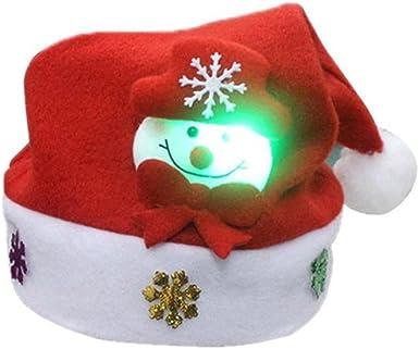 Hot Kids /& Adults /& LED Christmas Hat Santa Claus Reindeer Snowman Xmas Gift Cap