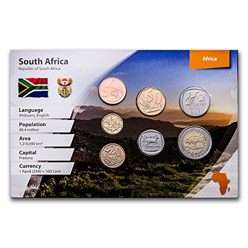 (ZA South Africa 7-Coin Rand Set (Landscape Packaging) Various Grades)