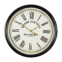 Uttermost Grand Central' Wall Clock in Black