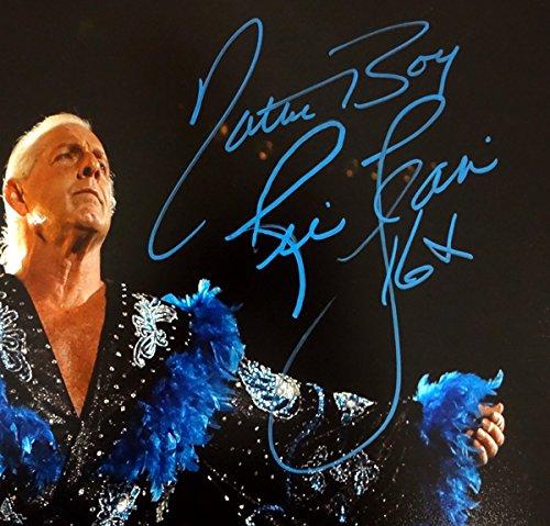 "RIC FLAIR AUTOGRAPHED 16X20 PHOTO WWE""NATURE BOY & 16X"" PSA/DNA STOCK #83685"