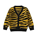 Product review for TONSEE Toddler Baby V-neck Tiger leopard Knitted Cardigan Sweater
