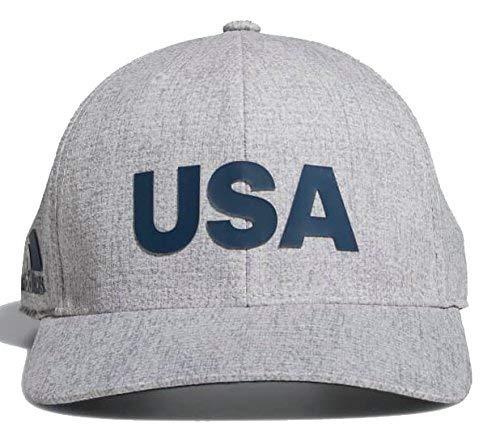 83d29fa6a70ba Amazon.com   adidas Heathered USA Golf Hat Cap DN4252 Grey One Size    Sports   Outdoors