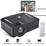 WiFi Projector, Neefeaer Portable Video Projector LCD Home Theatre Projector Support Full HD 1080P with HDMI USB SD Card VGA Laptop Tablet Smartphone Wireless Display for Home Entertainment Games