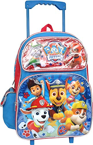 Chase Backpack - Paw Patrol Chase Marshall Rubble Rocky Skye 16 inches Large Rolling Backpack
