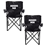 VictoryStore Outdoor Camping Chair - Jaguars Parents 2 Black Folding Camping Chair Set of 2 with Carry Bags